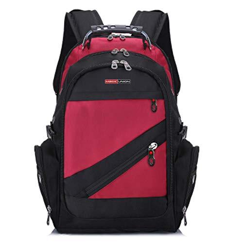 Magic Union Schweizer Reisetasche Mann Rucksack der Marke Design Männer wasserdichte Polyester-Taschen Anti-Diebstahl-Rucksack Computertasche Männer,rot