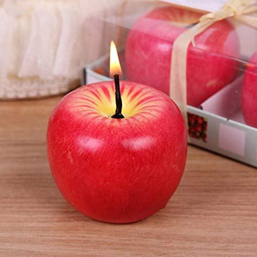 Farmer-W geurkaarsen, simulatie kaars in fruitvorm, natuurlijke was, rookvrij, niet giftig, aromatherapie-kaars, cadeau voor verjaardag, festival