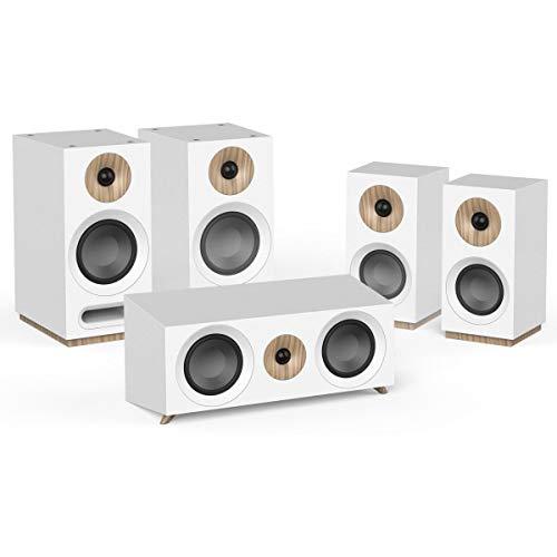 Jamo S 803HCS 5.0Channels White Speaker Set–Speaker Set (5.0Channels, Home Theatre, AC)