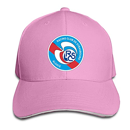 Aiier R-C STR-Asbourg Logo Gebogene Krempenkappe Bedruckte Baseballkappe Sonnenblende Reisekappe Sandwichkappe Verstellbarer Trucker-Hut