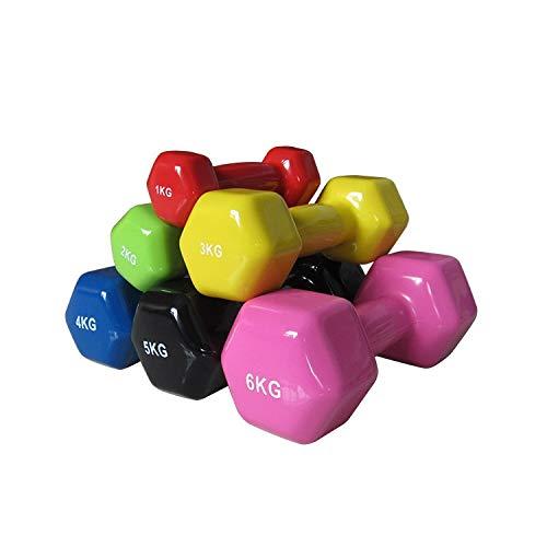 Lorsosport Vinylhantel Set - Kurzhanteln Dumbbells Hantelpaar - Gewichte im 2er Set 5kg - für Fitness, Muskelaufbau und Kraftübungen - für Frauen & Männer