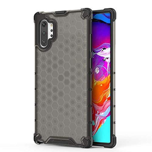 FAWUMAN Coque Samsung Galaxy Note10 Pro, Boîtier PC + TPU Double Layer Housse élégant boîtier Anti-Choc en nid d'abeille Conception Téléphone Case(Gris)