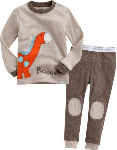 Image of Brown Roar Dino Pajamas for Toddlers and Infants - See More Styles
