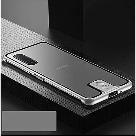 Sony Xperia 5 II 5G ケース アルミ バンパー 航空宇宙アルミ + 背面半透明のデザイン 強化マット質感 [ 耐衝撃 + 最軽量 ] 落下保護 おしゃれ 格好いい 日本版 docomo SO-52A au SOG02 エクスペリア5 ii ケース 携帯カバー(Xperia 5 II, シルバー)