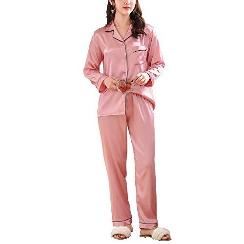 Rojeam Pareja Clásico Pijamas Mujer Hombre 2 Piezas