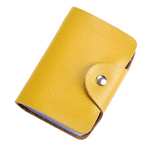 Tarjetero crédito, Titular de la Tarjeta de crédito, Tarjeta de crédito Carpeta de Cuero Amarillo
