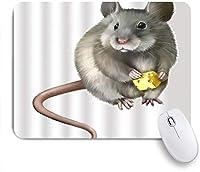 VAMIX マウスパッド 個性的 おしゃれ 柔軟 かわいい ゴム製裏面 ゲーミングマウスパッド PC ノートパソコン オフィス用 デスクマット 滑り止め 耐久性が良い おもしろいパターン (かわいいアニマルハムスターのマウスチーズ)