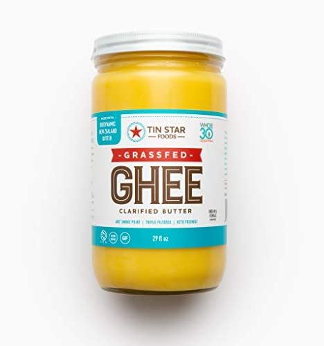 100 Grassfed Ghee by Tin Star Foods 29 OZ Clarified Butter Keto and Whole 30 Approved Lactose product image