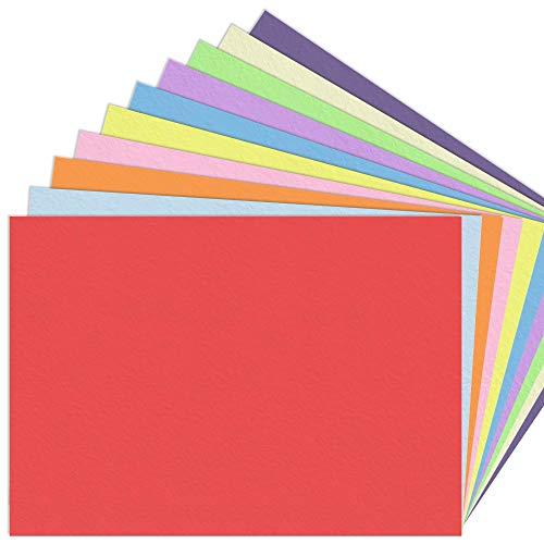 10 Farben, A3 120 g/m² Tonpapier Bunt Farbige Papier, 100 Blatt