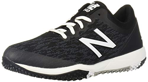 New Balance Men's 4040 V5 Turf Baseball Shoe, Black/White, 11 M US
