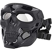 SANTITY Airsoft cráneo Mask,Máscaras Protectoras de Cara Completa para Airsoft Paintball CS Juego de Guerra al Aire Libre BB Gun Fiesta de Halloween Cosplay Máscara Accesorios Cine