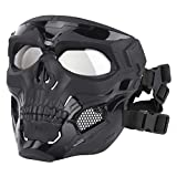 Ladepe 1 Pcs Visage Squelette Masque Airsoft Casque Complet Visage Masque CS Halloween Masque Mascarade Parti Cosplay Props Masques