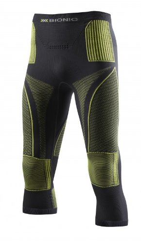 X-Bionic - Energy Accumulator - Collant 3/4 - Homme - Gris (Charcoal/Yellow) - Taille: S/M
