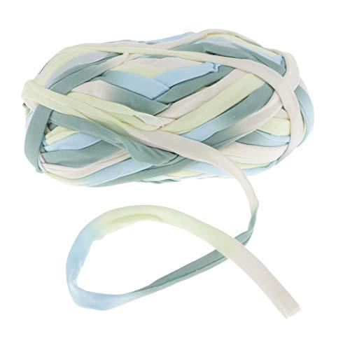 P Prettyia 100g Textilgarn, Jerseygarn, Stoffgarn, Kordelgarn, 9mm Durchmesser, Regenbogen Farben Auswahl - 44