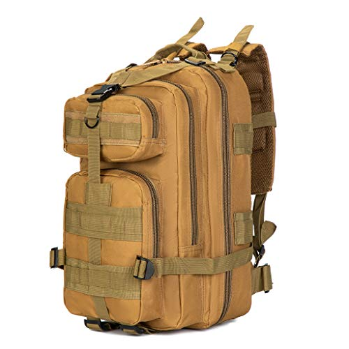 Jipemtra Tactical First Aid Bag MOLLE EMT IFAK Backpack Trauma First Aid Responder Medical Backpack Utility Bag Military Tactical Rucksack Emergency (Tan)