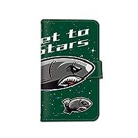 [bodenbaum] AQUOS Xx3 506SH 手帳型 スマホケース カード ミラー スマホ ケース カバー ケータイ 携帯 SHARP シャープ アクオス ダブルエックススリー SoftBank サメ ロケット ミサイル 宇宙 d-400 (C.グリーン)