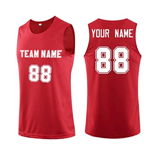Camiseta de baloncesto personalizada, camiseta de tirantes de malla reversible con uniforme de equipo personalizado, haz tu propia camiseta deportiva con tu nombre y número