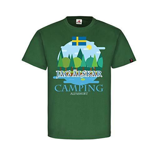 Copytec Jag älskar Camping Sverige Zweden tenten natuur bos zee vakantie fan #31895