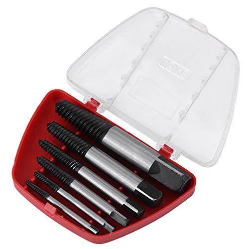 Extractor de tornillos de 6 piezas, removedor de pernos dañados, removedor de fácil extracción para rosca de 4 mm a 25 mm, perno roto, tornillo, perno, tubería pequeña