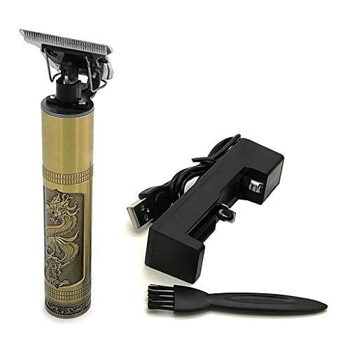 DROHOO Tagliacapelli Elettrico Professionale da Intaglio, regolabarba, Kit per toelettatura del Barbiere, Oro