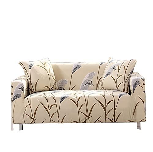 Fundas de sofá de hojas de caña de alta elasticidad, protector de muebles, decoración de sala de estar, funda de sofá de 3 plazas, funda protectora de sofá, funda de sofá, accesorio de sofá