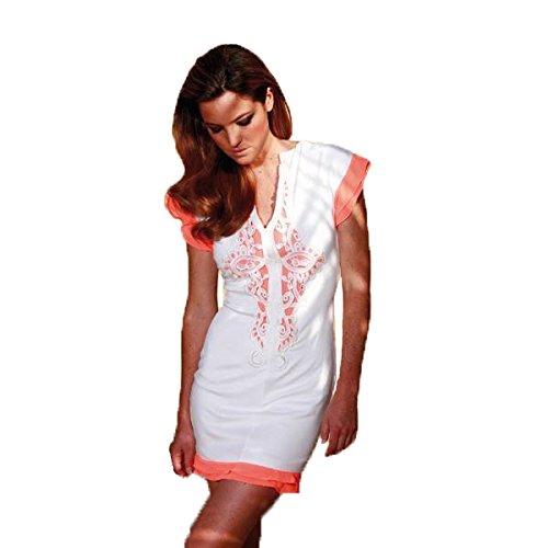 Almatrichi - Vestido - para mujer blanco Cream Orange 40