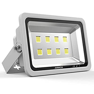 AMMON 400W LED Outdoor Flood Lights - 40000lm Super Bright Outside Floodlights, IP65 Waterproof Exterior Security Lights, 6000K Daylight White Lighting for Playground Yard Stadium Lawn Ball Park