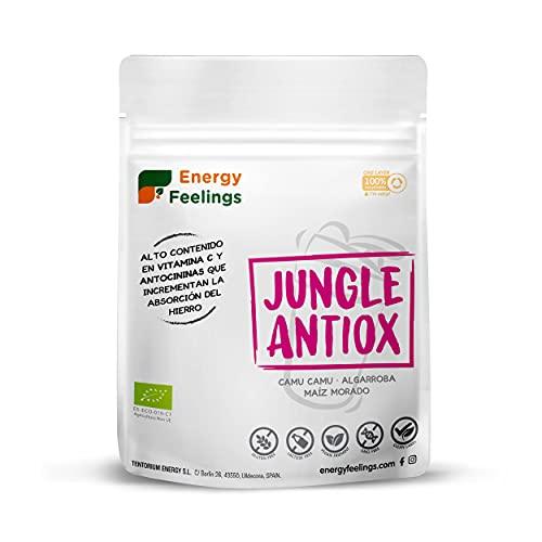 Energy Feelings   Batido Antioxidante Ecológico   Rico en Vitamina C   Camu camu   Algarroba   Sin gluten   Sin lactosa   200g
