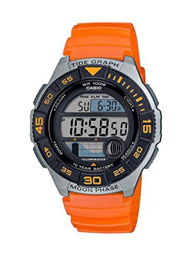 Casio Reloj casual para hombre de 10 años con batería de resina, naranja, 22,8 (modelo: WS-1100H-4AVCF)
