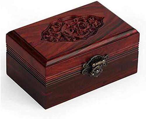 XHLLX 13.5 * 8.5 * 6.5Cm Caja De Joyería De Madera Antigua, Caja De Almacenamiento, Ideal Único Ideal - Caja De Joyería/Caja De Almacenamiento