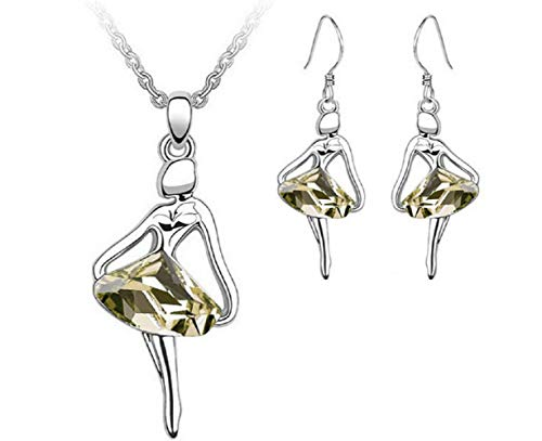 Lot ketting - oorbellen - glimmende stenen - hangers - ballerina