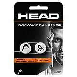 HEAD Unisex– Erwachsene  Djokovic Dampener - Shock Absorption Comfort - Weiß - 2 Stück - Einheitsgröße