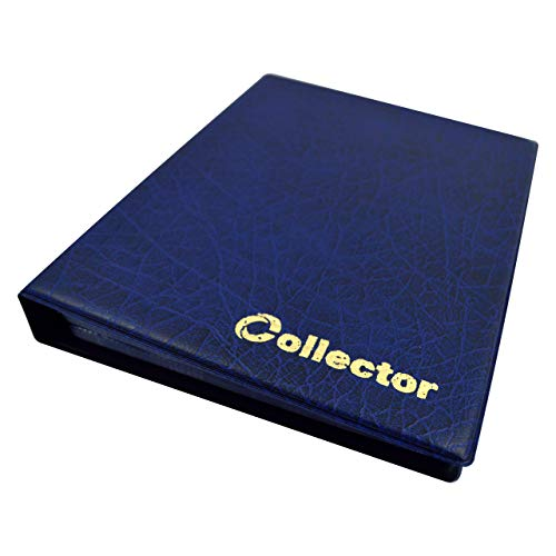 Collector Münz-Sammelalbum für 126 Verschiedene Münzen-Größen, von Großen bis Kleinen Münzen - mit Seiten - Blau Münzalbum