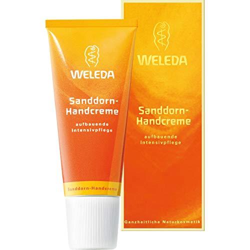 WELEDA Sanddorn Handcreme, pflegende Feuchtigkeitscreme für zarte und rissige Hände, schützt Haut und Nagelbett (1 x 50 ml)