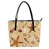 LORVIES Sandmuscheln Modell Umhängetasche PU Leder Handtasche Damen Handtasche