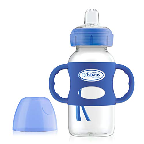 Dr Brown's 270ml Wn Sippy Bottle with Handles, Blue, of