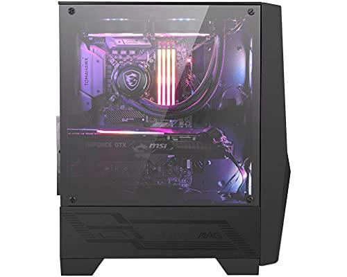 MSI MAG Forge 100R Case ATX, 2 ventole ARGB + controller (Mystic Light), supporta radiatori fino a 240mm, vetro temperato 4mm, filtro antipolvere, airflow ottimizzato, 2x USB 3.2 Gen1