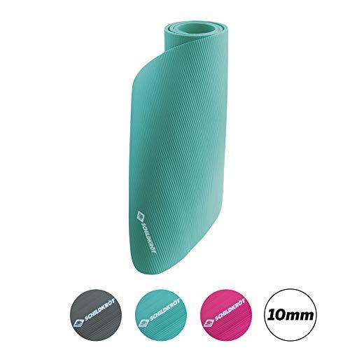 Schildkröt-Fitness Unisex– Erwachsene Fitnessmatte 10mm, Mint, 960065, 180 x 61cm