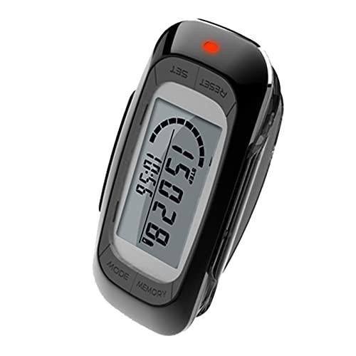 MAYMOC Podómetro 3D Multifuncional con Clip y Correa - Contador de Pasos preciso Millas y kilómetros de Distancia Contador de calorías Memoria de 7 días
