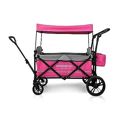 WonderFold Baby X2 - Carrito de paseo para 2 pasajeros, Rosado