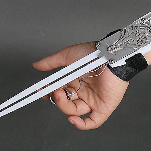 Assassins Creed: Black Flag: Edward James Kenway Versteckte Waffe Waffe Props Held Armband Verstecktes Blatt Rollenspiele Handschuhe Spielzeug-Geschenk-Sammlung Silver