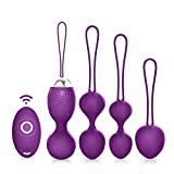 Kegel Balls - ACVIOO Ben Wa Balls 5 in 1 Kegel Exercise Weights Pelvic Floor Exercises Bladder Control Device for Women Post Pregnancy Recovery & Control with Training Kit for Women(Purple)