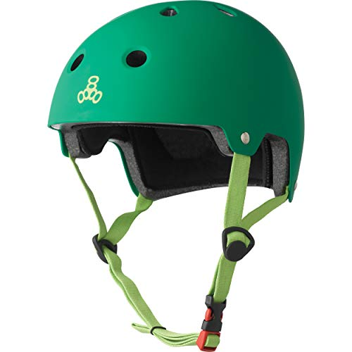 %20 OFF! Triple Eight Dual Certified Bike and Skateboard Helmet, Kelly Green Matte, X-Small / Small