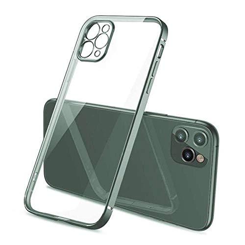 Adecuado para la funda del teléfono móvil iPhone11 Rubik's Cube funda protectora transparente funda anti-caída con lente todo incluido carcasa de telefono-iPhone11pax_ verde noche oscuro