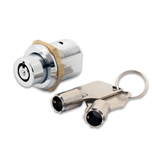 FJM Security 2610B-KA Tubular Push Lock with Chrome Finish, Keyed Alike