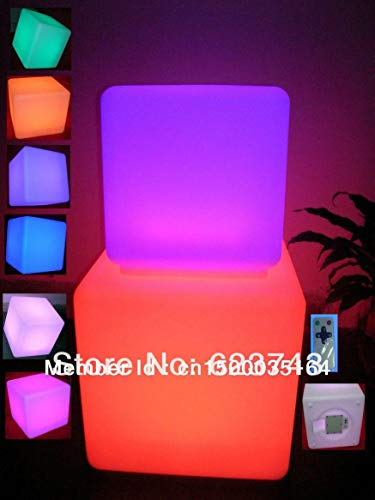 Muebles iluminados con Control Remoto ** Cubo a Prueba de Agua a Prueba de Agua Silla de Banco Cubo de iluminación Exterior
