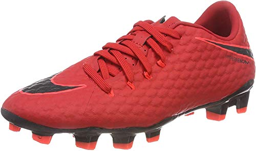 Nike Herren Hypervenom Phelon III FG 852556 Fußballschuhe, Rot (Universität Rot/Schwarz-Helles Karmesinrot 616), 42.5 EU