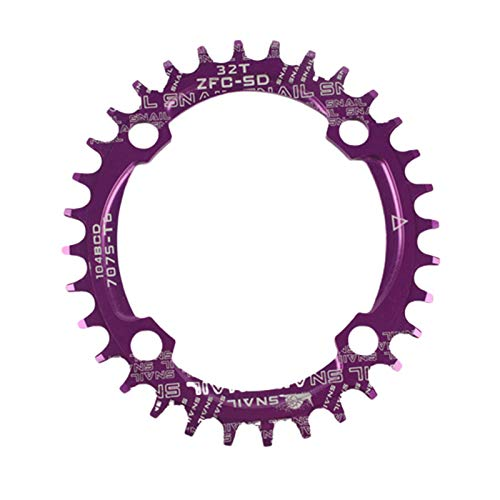 Takefuns MTB Chainring Bicicletas solo disco bicicleta de montaña disco ovalado 32T/34T/36T/38T adecuado para modelos XC-AM 104BCD forma redonda