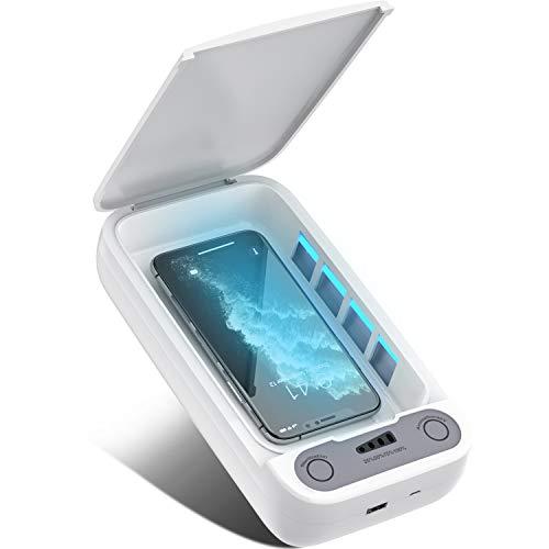 Handy UV Smartphone Cleaner Box, Aromatherapie und großer Kapazität Multifunktional Phone-Reiniger Für Handschuhe, Uhren Schmuck Babyflaschen und Gläser