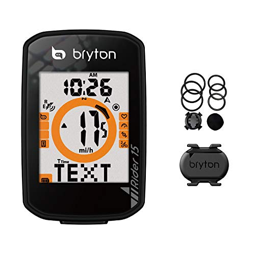 %10 OFF! Bryton Rider 15 GPS Cycle Computer(15C – with Cadence Sensor). Your First GPS Bike Computer, Ease of use, no Complicated Setup. Compatible to BLE sensors, 30 Features Supported.